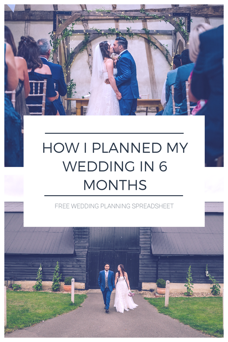 How I Planned and Organised A Wedding in 6 Months