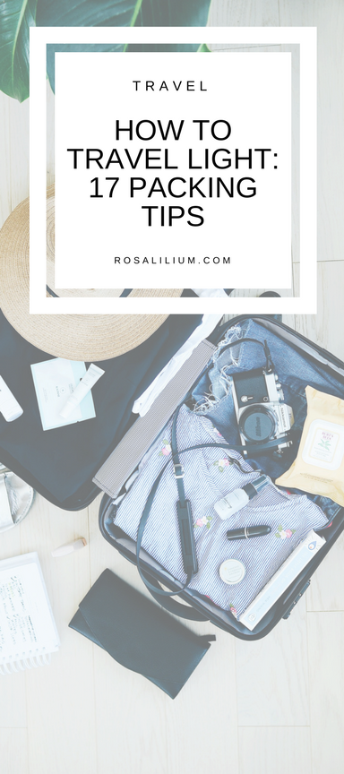 How to travel light - packing tips