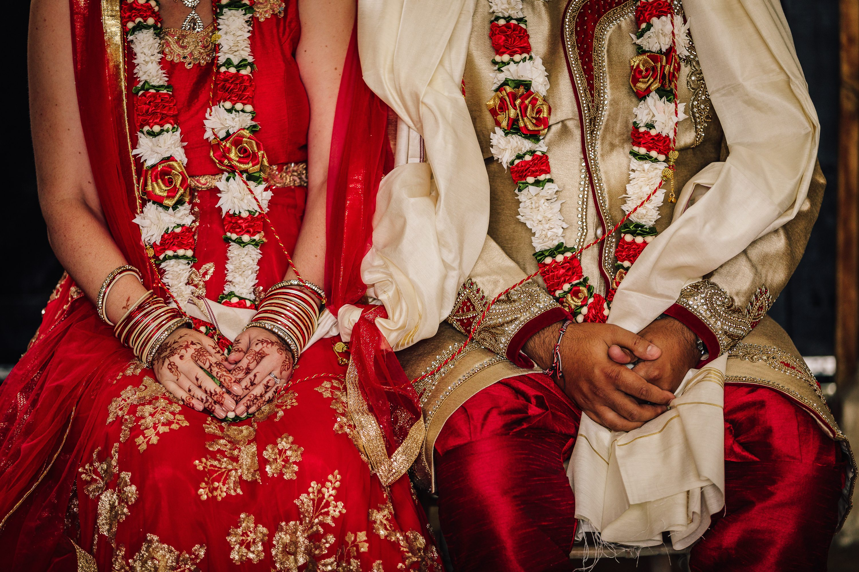 Indian Wedding Dress Detail