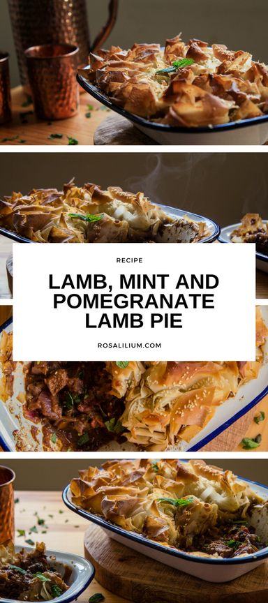 Lamb mint and pomegranate pie