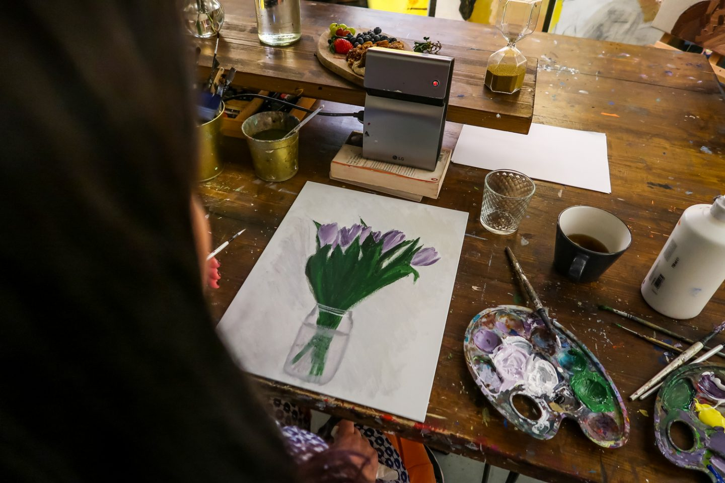 Painting tulips