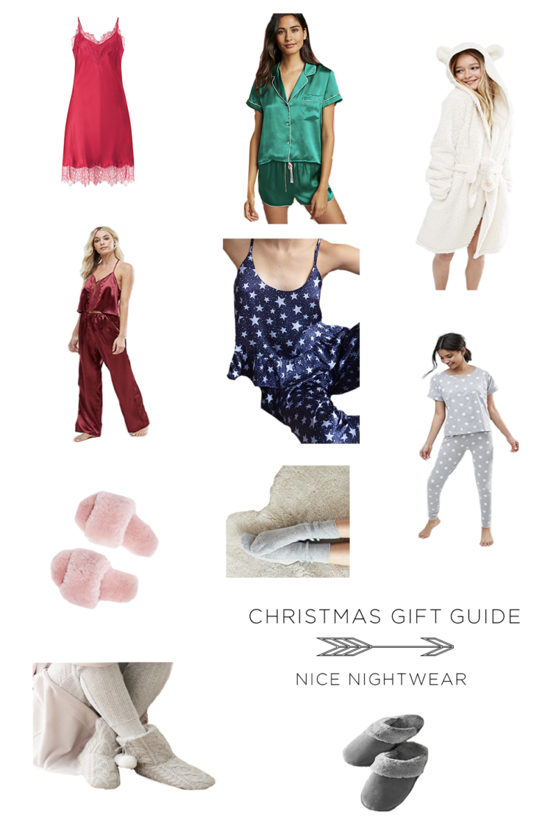 NICE NIGHTWEAR CHRISTMAS GIFT GUIDE