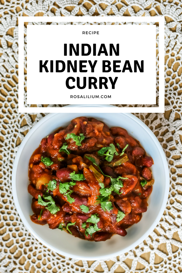 Recipe for Indian Kidney Bean Curry aka Rajma