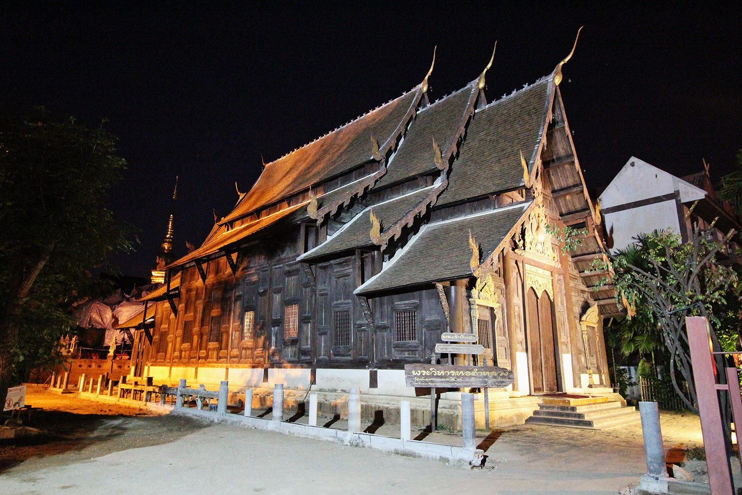 Temple at Night Chiang Mai