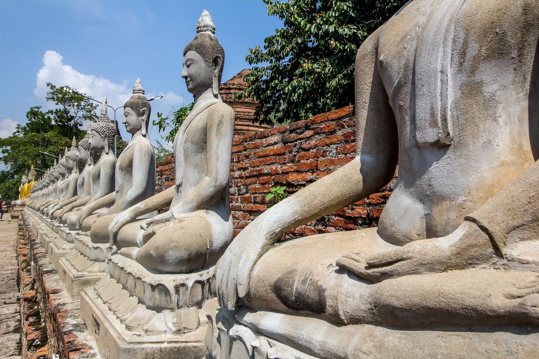 Wat Yai Chai Mongkhon Buddha Statues