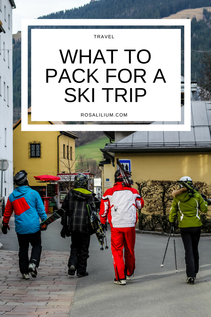 What to pack for a ski trip packing list