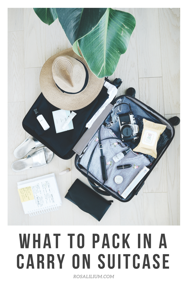 What to pack in a carry on suitcase