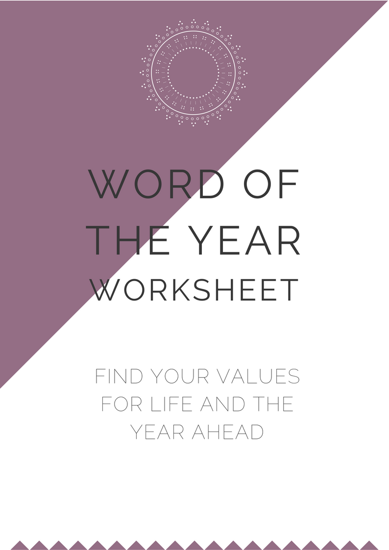 Word of the Year Worksheet