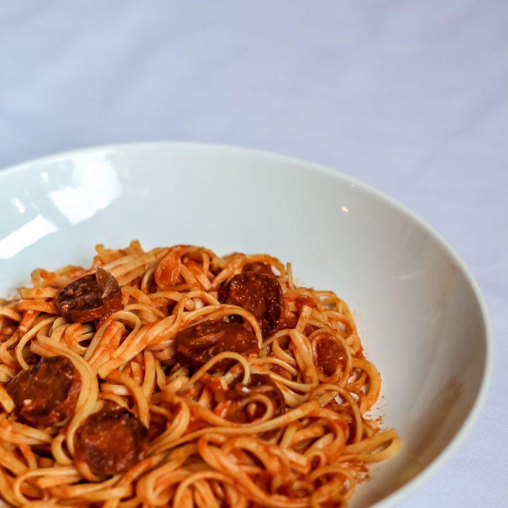 Chorizo, Chilli and Garlic Linguine Recipe