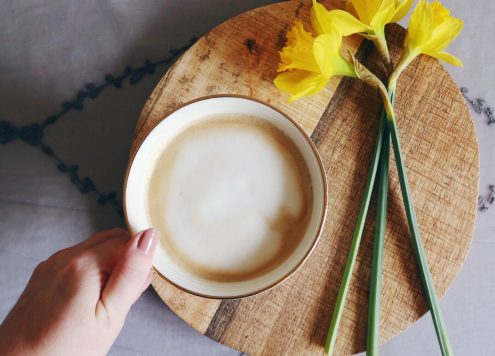 coffee and daffodils