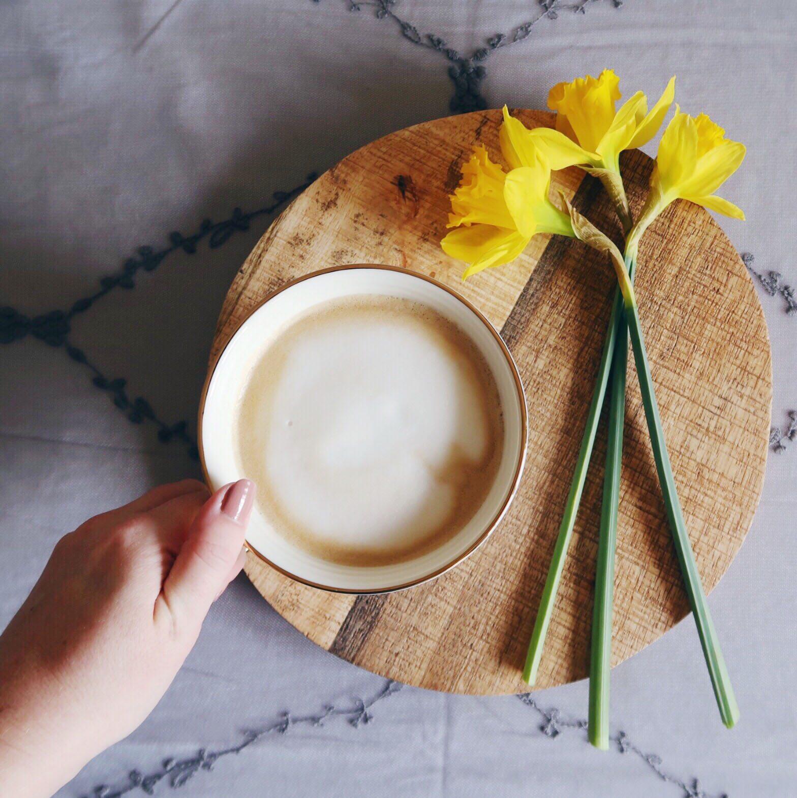 coffee and daffodils