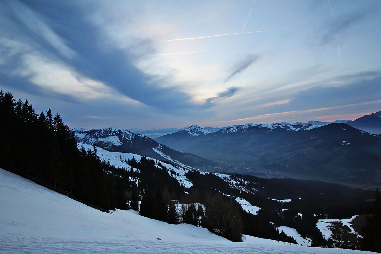view of the Hannenkamm ski slope