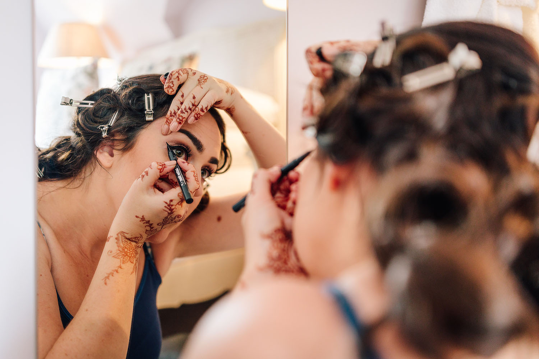 wedding make up winged eyeliner