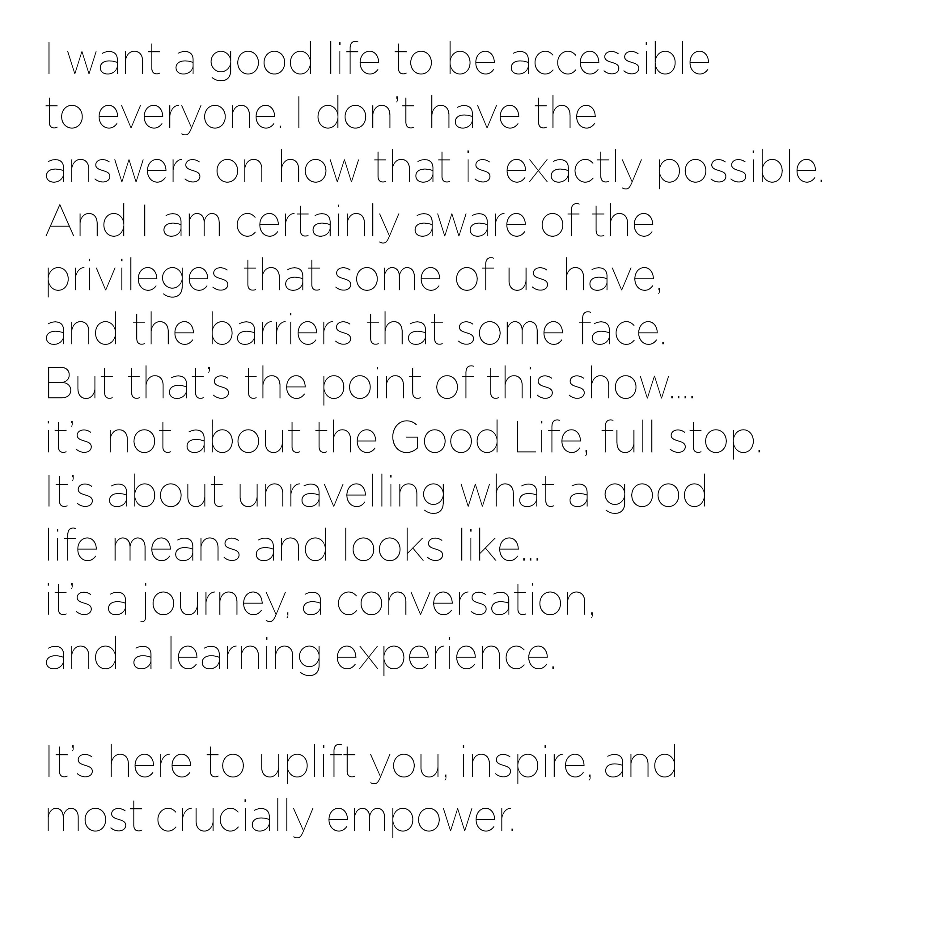 Good Life Unravelled Podcast meaning